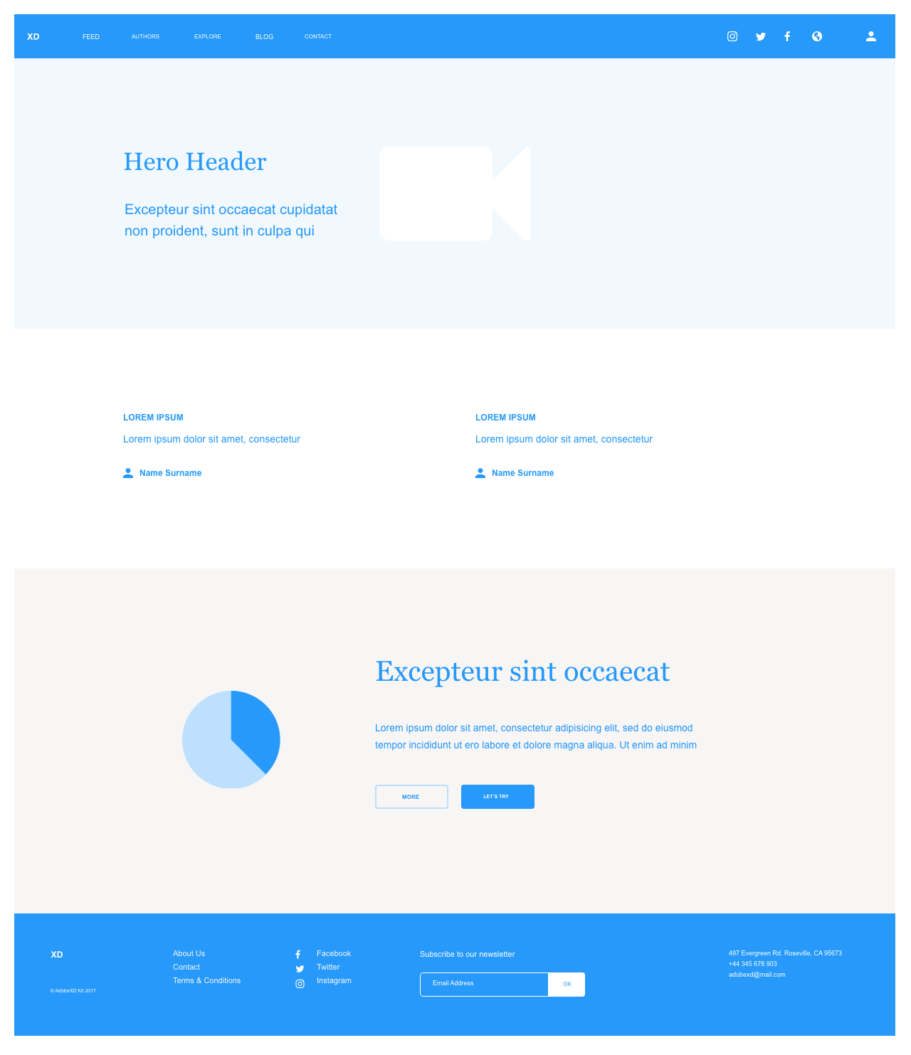 Website Layout and Design Example