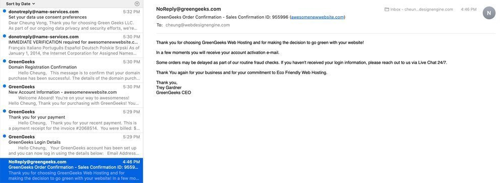 GreeGeeks Email