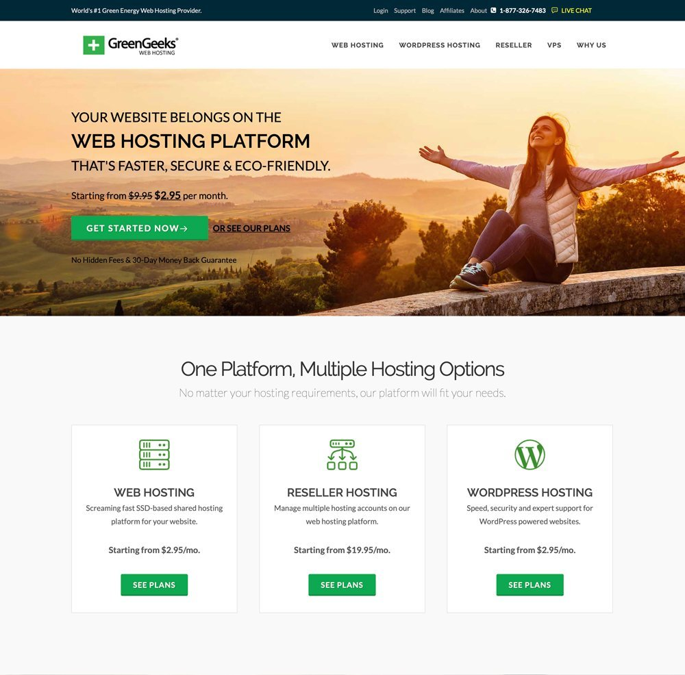 GreenGeeks Home Page
