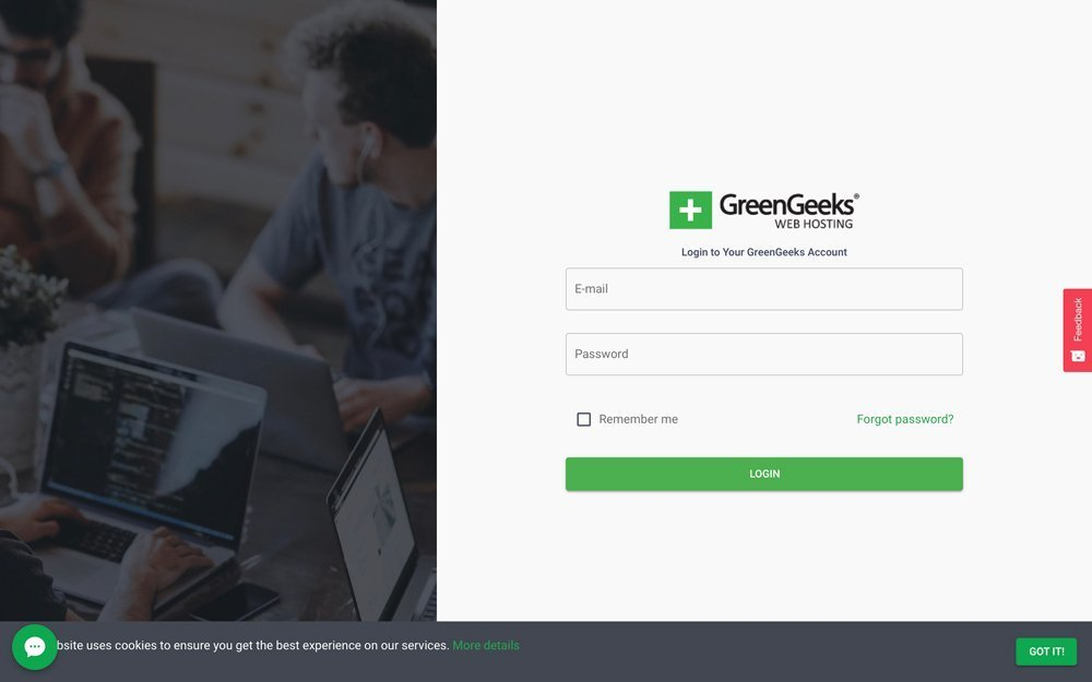 GreenGeeks Login