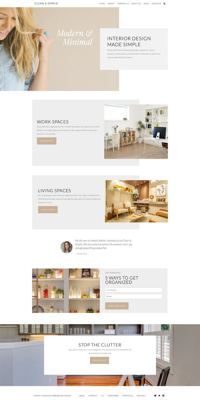 Ariyah Clean & Simple WordPress Theme