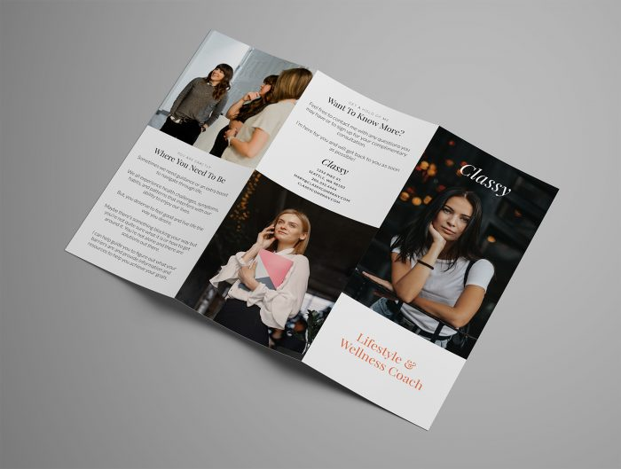 Ariyah Classy Trifold Brochure Template Outside