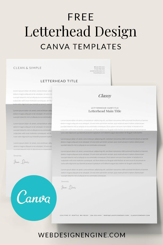 Free Canva Letterhead Templates