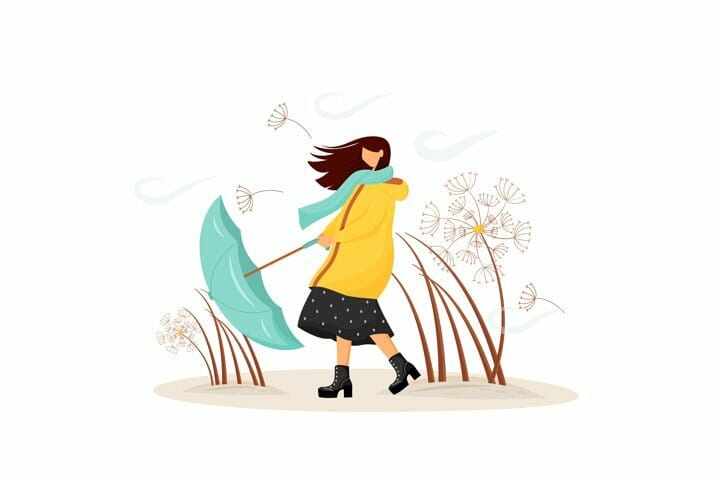 Free Windy Weather Vector Illustration