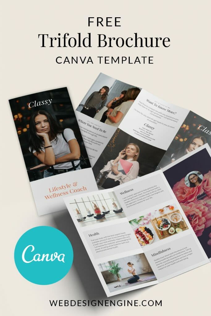 Free Canva Trifold Brochure Design
