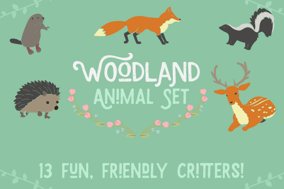 Free vector woodland animals collection