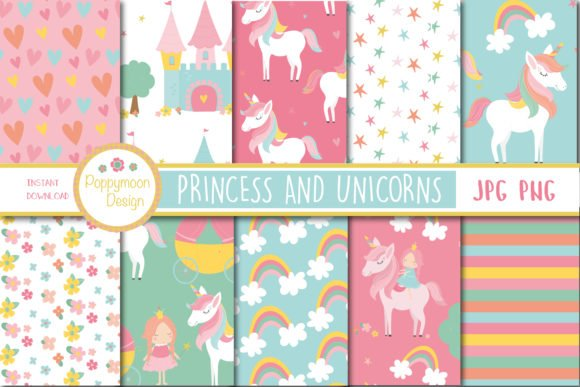 Free Unicorn and Princess illustrations