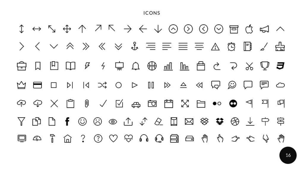 Ariyah Clean & Simple PowePoint Presentation Icons